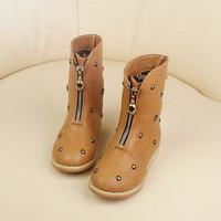 2013 autumn and winter female child martin boots child boots rivet plus velvet medium-leg boots girl boots