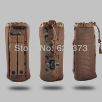 Woodland Digital Camo Camoflage Molle Canteen Water Bottle Pouch Cover Military Style Army Tactical 25*10cm