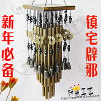 free shippingThe whole network big wind chimes lucky 24 tube 16 clock metal doorbell