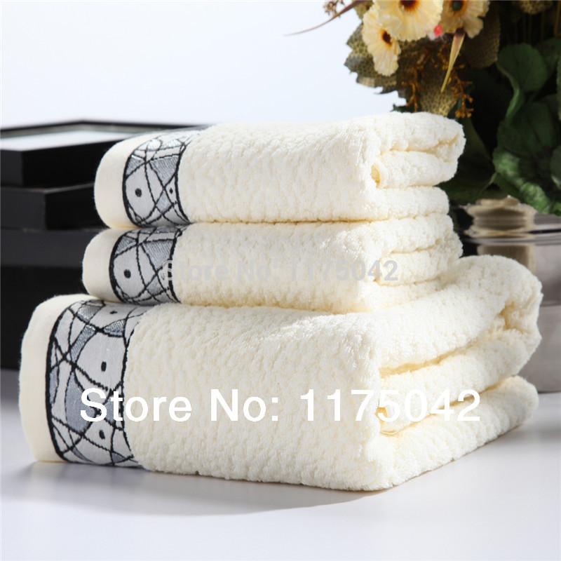 Free shipping cotton towel, towel set 70*140cm bath towel 2 pcs 33*75CM hand/face towel promotional discount hot sale yt026(China (Mainland))