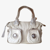 Mimco classic metal button bag shoulder bag cowhide handbag