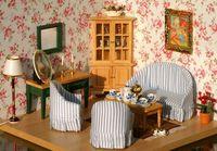MINI CLUB-FREE SHIPPING- Doll house mini furniture model old fashioned 7 piece set 21022
