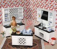 MINI CLUB-FREE SHIPPING- Doll house mini furniture model black and white sets brief 20021
