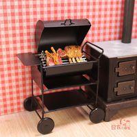 MINI CLUB-FREE SHIPPING- Mini doll house outdoor grill 60105 BBQ alloy