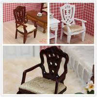 MINI CLUB-FREE SHIPPING- Doll house mini furniture fashion wood model decoration armrest chair 22016