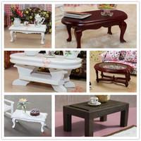 MINI CLUB-FREE SHIPPING- Doll house mini furniture model solid wood coffee table 22003