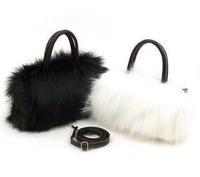 2014 New Women Shoulder Bag Messenger Bag Ladies Handbag Small Imitation Rabbit Fur Oblique Cross Package Free Shipping