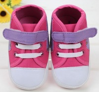 New baby girl's fashion first walkers 2014 all seasons hot fuchsia hello kitty toddler infant shoes non-slip kids prewalker