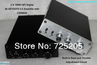 2x160W HIFI Bluetooth Digital Amplifier TDA7498E  Bluetooth4.0 CSR Chip Bass Tremble Adjusted  Automatic Switch
