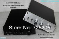 2x160W HIFI Bluetooth Digital Amplifier TDA7498E  Bluetooth4.0 CSR Chip Bass Tremble Adjusted  Automatic Switch