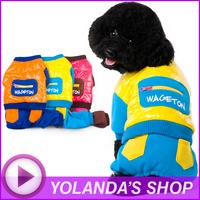2014 Hot Fashion Dog Clothes WAGETON Jumpsuit Wholesale And Retail Pet Puppy Cat Warm Coat Apparel