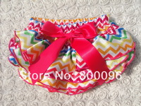 baby bloomers baby diaper cover bow rose red rainbow baby casual ruffile bloomers KP-SB058
