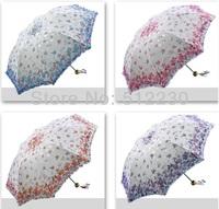 Lace Lady Girl Women's Compact Folding Umbrella, anti-UV parasol, double layers