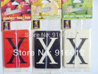 "Russian hot selling Car Freshener Letter ""X"" Red Black White Paper Air Freshener clean air fresh air"