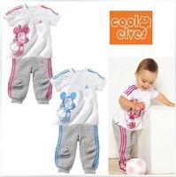 Retail 1 sets/lot ,children girl  sets  cartoon girl clothing ,0.2kg