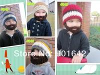 Crochet Boy's Beard Hat, Knit Boys Mens Cap, Knitted Boy's Beard Beanie  ,Boy's Photo Props Hat 30pcs