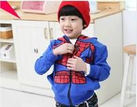 Retail 1 pcs/lot, 100% cotton,children  boy Spider-Man Jacket,0.3kg