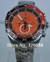 2014 New Brand Festina F16603 Men's Chronograph Orange Dial Stainless Steel Bracelet Watch+ ORIGINAL BOX FREE SHIPPING