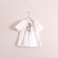 New 2014 Summer foreign trade Children clothing  Boutique girls  lace shirt  baby girls sweet lace blouse 6pcs/lot