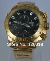 2014 New Brand Festina F16599 Tour de France Bike Quartz Chronograph Black Dial Gold Stainless Steel Bracelet Men's Watch