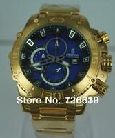 2014 New Brand Festina F16599 Tour de France Bike Quartz Chronograph Navy Blue Dial Gold Stainless Steel Bracelet Men's Watch