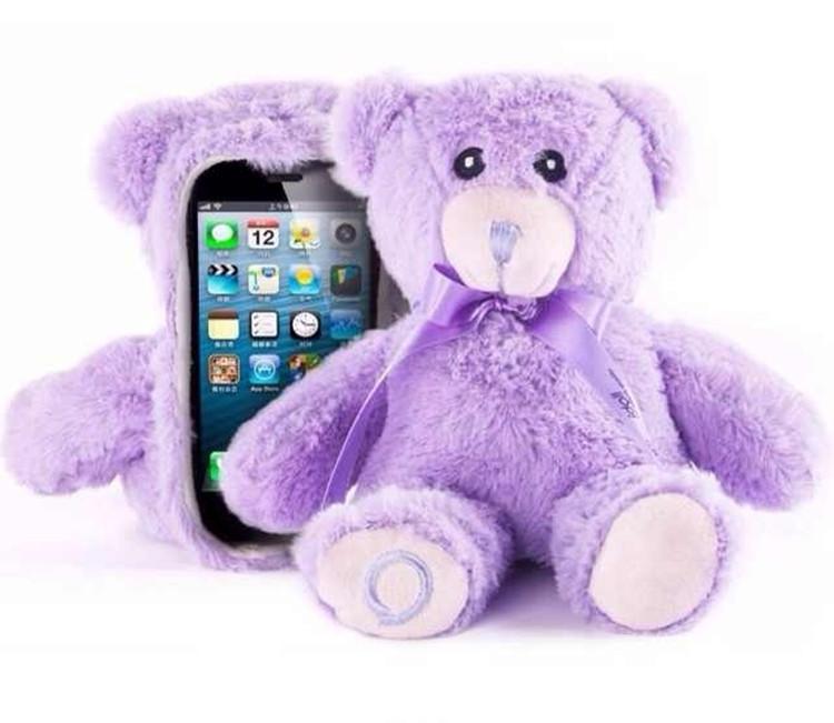 Free-Shipping-3D-Cute-Animal-Cute-Bear-Soft-Plush-Cover-Case-For ...