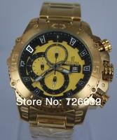 2014 New Brand Festina F16599 Tour de France Bike Quartz Chronograph Yellow Dial Gold Stainless Steel Bracelet Men's Watch