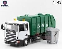 Scania children giant toy clean car model garbage trucks engineering car with trash bin alloy car model free shipping