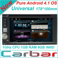 New Pure Android 4.1 Universal Car DVD GPS Player with Russian Menu Capacitive Smart Touch Screen Car Audio Radio Navigation