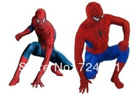 Details about  Fancy dress!! Red and Blue Lycra/Spandex Spiderman Hero Zentai Costume S-XXL