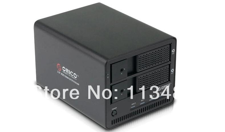 ORICO 9528RUSI3-BK Aluminum super speed 2 Bay Hard Disk Drive Case to 3.5inch SATA HDD RAID Enclosure with 1394a&1394b interface(China (Mainland))