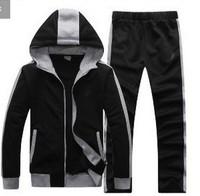 Fashion Original Men Sports Suit Casual Zip Slim Fit Hoodies Sweatshirts for Couple Sport Package  Cotton Tracksuit