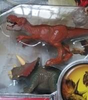 Famous brand 2pcs/set Jurassic Park Triceratops+Tyrannosaurus rex dragon dinosaurs toys for boys with original box