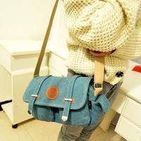 summer bag Travel sports bags female Korean student of small canvas bag mini-packet Shoulder Messenger bag woman candy sac