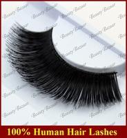 Newlook Free Shipping #208 3pairs/lot 100% Real Human hair Strip thick naturally large elegant false eyelash extension
