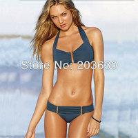 Free Shipping Beauty Women Favor Padded Boho Fringe Top Bikini set Sexy Swimsuit 1set(Top+Bottom) Swimwear 2colors