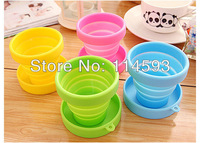 Travel folding cup telescopic cup silicone Tumbler portable travel wash cup outdoor