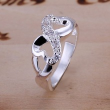 Wholesale New Beautiful Fashion Jewelry 925 Silver Ring,Open Stone Concave Ring,925 Sterling Silver Rings Free Shipping R049