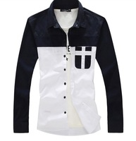 2014 HOT Mens Plus Size Shirt,Males 2014 Fashion Casual Style Shirt Size M-5XL