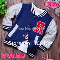 4pcs/lot 2014 Spring Boys Sweater Coat Clothes Kids Sports Jacket Casual Cardigan Long Sleeve School Jacket For Boy Outwear