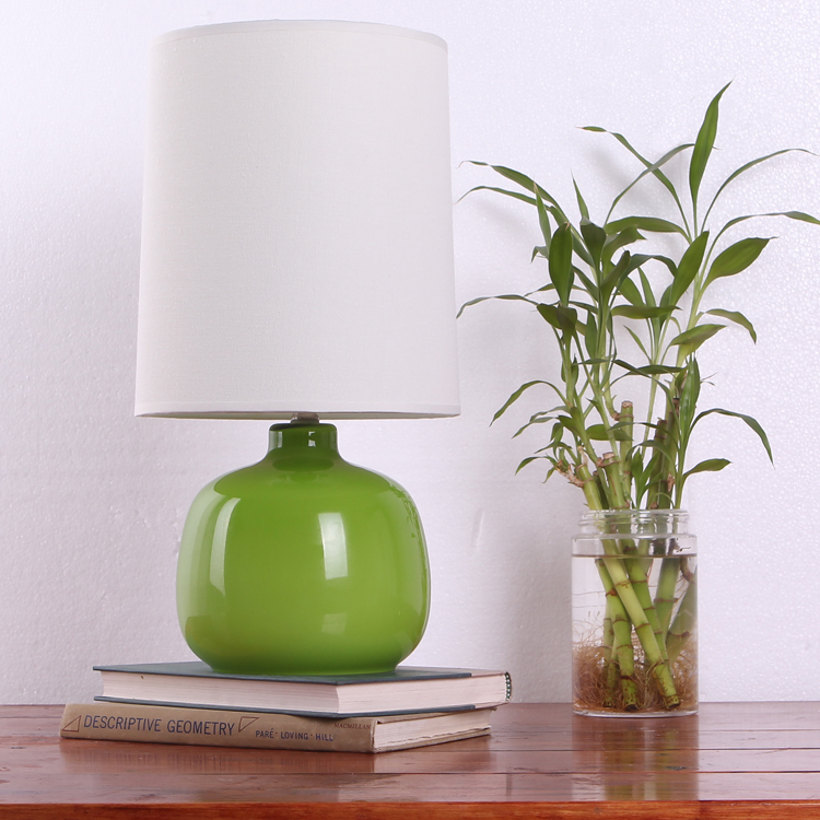 Lighting meike glass holy white and green red bedside lamp a007(China (Mainland))