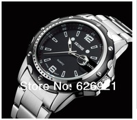 new 2015 brand men quartz watch full stainless steel watches Business mens casual watch fashion wrist sports watches dive watch