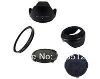 58mm UV Lens Filter+Cap+Hood for Canon 1000D 400D 450D