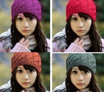 2014 Autumn Winter Вязанаяting Шерсть Hat for Женщины Caps Lady Beanie Вязанный ...