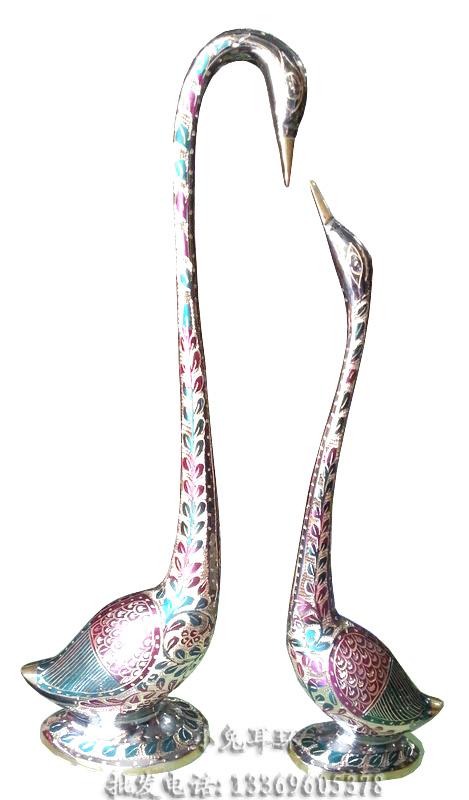 Wholesale Pakistan Exquisite wealth utensils art Culture swan lovers decoration pakistan bronze copper wedding gift(China (Mainland))