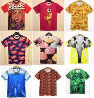 Free Shipping Fashion Print 3D T shirt 3D Funny Print Tshirt Man Z002