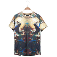 Fashion series male print short-sleeve 12119