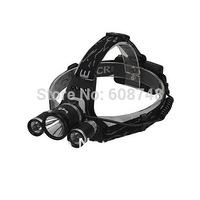 3800Lumen CREE XM-L XML T6 + 2xR2 for 2x18650 LED Headlight Bike Bicycle Light Headlamp Flashlight Head Lamp Free shipping