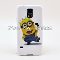 New Arrival ! Despicable Me Cute Minion Cartoon Hard Plastic Cover Case for Samsung Galaxy S5 , 50pcs/lot