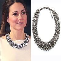 #A2209 New Kate Middleton necklace & fashion pendants luxury  designchoker crystal pendant necklace statement jewelry